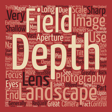 majority: Landscape photography depth of field text background word cloud concept