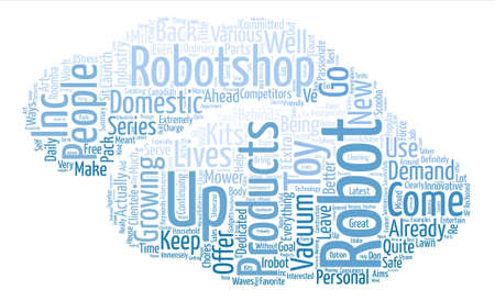 Robotshop Makes Waves In The Canadian Robotics Industry text background word cloud concept Illustration