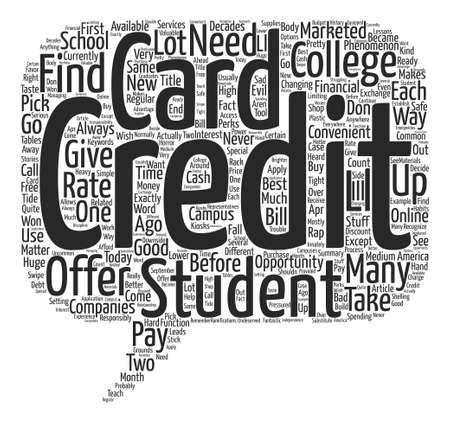 Ready For Your Very Own College Student Credit Card text background word cloud concept