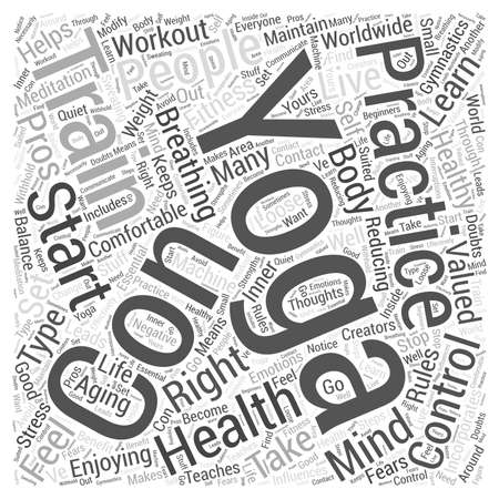Enjoying Yoga to Live Healthy Aging Word Cloud Concept Illustration