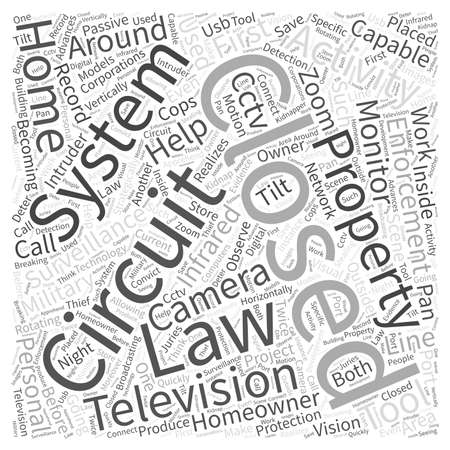 closed circuit television: Closed Circuit TelevisionCCTV at Work and around the Home Word Cloud Concept