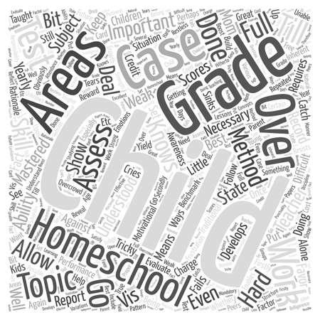homeschooling: Grading in homeschooling Word Cloud Concept