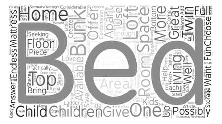 bunk bed: Why Choose a Bunk Bed for Your Child text background word cloud concept Illustration
