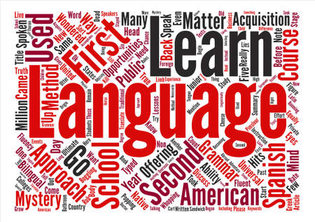 You Can Learn A Second Language No Matter What Word Cloud Concept Text Background