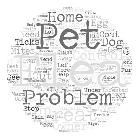 Yikes I Saw A Flea On My Dog text background word cloud concept Illusztráció