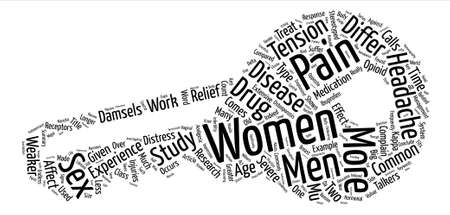 Which Is The Weaker Sex When It Comes To Pain Word Cloud Concept Text Background