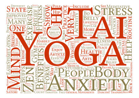 chi: Yoga Tai Chi and the State of Zen text background word cloud concept