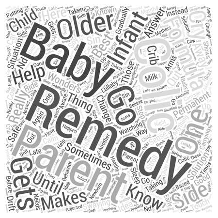 colic: Colic Remedy Word Cloud Concept