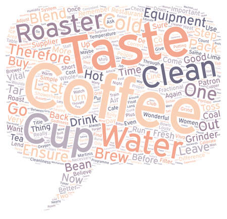 Concepto de texto en el fondo de wordcloud fría Pensamiento Woulda Café Quién Ilustración de vector