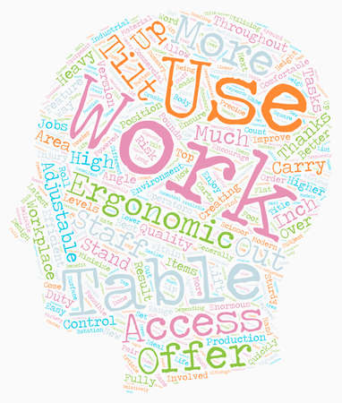 Commercial Industrial Work Tables text background wordcloud concept