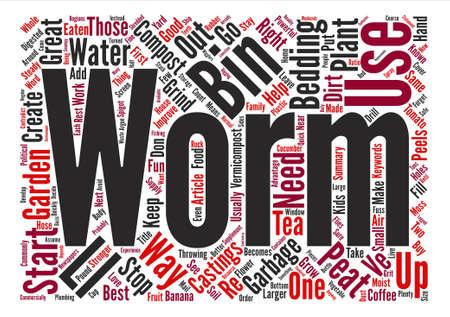Worm Compost Bin Word Cloud Concept Text design