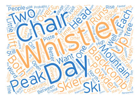 Which is better Whistler or Blackcomb Word Cloud Concept Text design