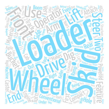 Skid Loader text background word cloud concept