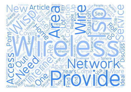 Why Go Wireless With Your ISP Word Cloud Concept Text Background Ilustrace