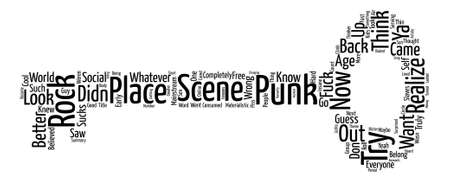 The Punk Rock Scene And Why It Sucks Word Cloud Concept Text Background