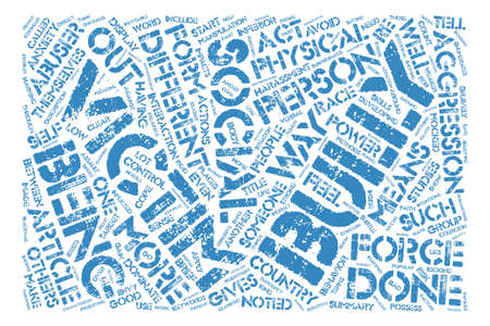 How To Cope With Bullies text background word cloud concept