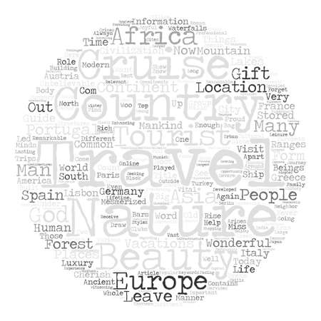 mesmerized: Travel Vacations text background word cloud concept