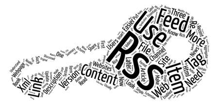 RSS feed text background word cloud concept