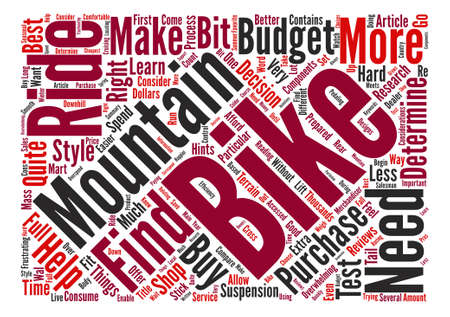 considerations: Mountain Bike Considerations text background word cloud concept