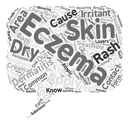 broadly: What You Should Know About Eczema text background word cloud concept