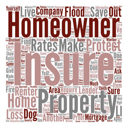 How To Save On Your Homeowner s Insurance Word Cloud Concept Text Background