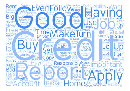 How Good Is Your Credit Why Does It Matter Word Cloud Concept Text Background