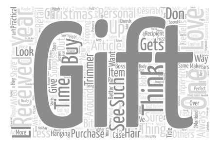 De perfecte Kerstmisgift Word Cloud Concept Text Background