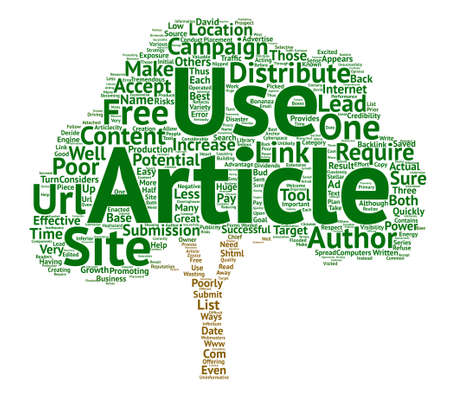 The Successful Use Of Free Articles text background word cloud concept