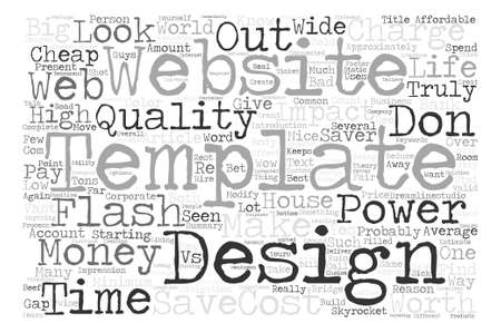 Why Website Templates Are Worth It Word Cloud Concept Text Background