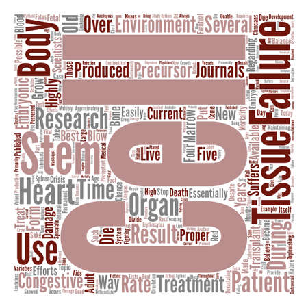 devastating: How Can Stem Cells Be Used to Treat Congestive Heart Failure Word Cloud Concept Text Background