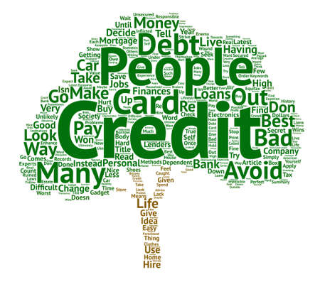 make summary: How To Avoid Bad Credit text background word cloud concept Illustration