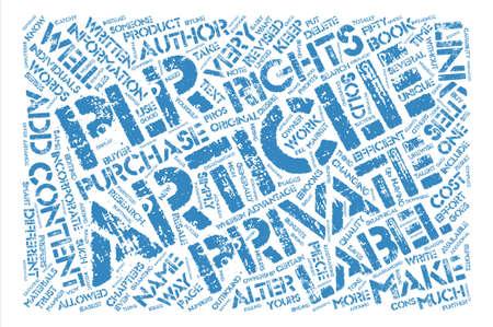 OGPLR avantages et inconvénients des droits de label privé texte fond mot nuage concept