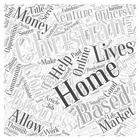 cloud based: Christian Home Based Business Word Cloud Concept