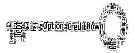 Let Me Out Of Debt Please Word Cloud Concept Text Background