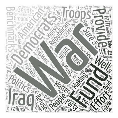 Why Democrats Should Fund The War text background word cloud concept