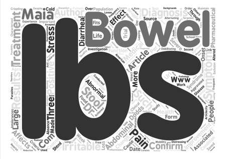 confirms: Study Confirms IBS Improvement text background word cloud concept Illustration