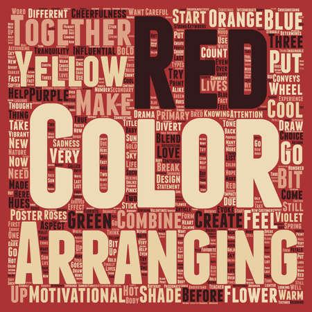 determines: Color Determines The Tone Of Your Flowers Arrangements text background wordcloud concept