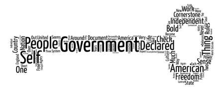The Cornerstone of Government Word Cloud Concept Text Background Ilustração