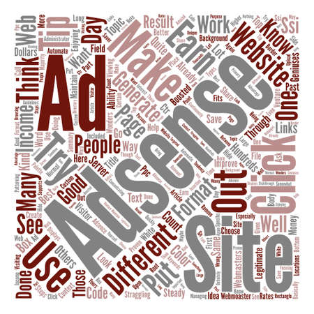 Improve Your Adsense Income In Steps Word Cloud Concept Text Background