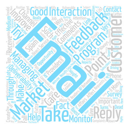 Monitor Feedback to Boost Deliverability Word Cloud Concept Text Background Illustration