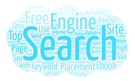 attain: You Must Use The Right Keywords To Attain High Page Rank text background word cloud concept Illustration