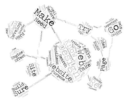 intentional: Web Design Extreme Makeover Word Cloud Concept Text Background Illustration