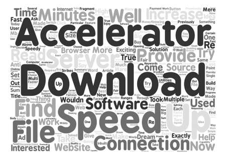 exciting: Download Accelerators Word Cloud Concept Text Background