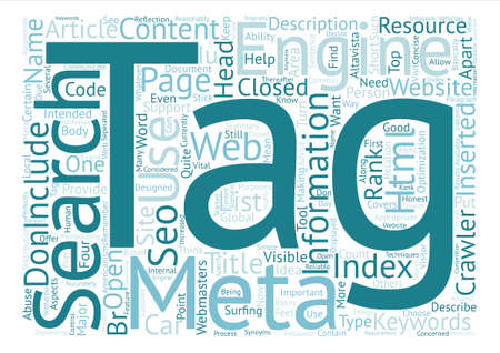 meta: Why Meta Tags used Word Cloud Concept Text Background Illustration