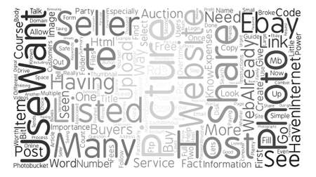 listings: Is A Picture Worth A Thousand Words Word Cloud Concept Text Background Illustration