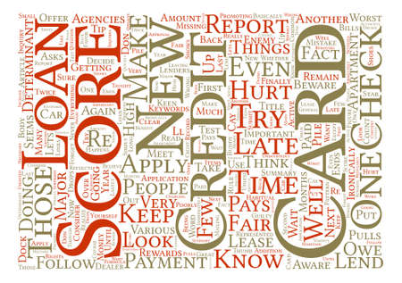 determinant: You Are Your Credit Score s Worst Enemy Word Cloud Concept Text Background Illustration