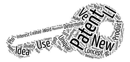 qualify: Does Your New Product Qualify For A Patent Word Cloud Concept Text Background