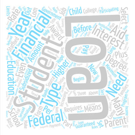 Student Loans text background word cloud concept Illustration