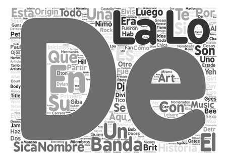 Los Nombres Detras de Las Bandas de Musica text background word cloud concept Illustration
