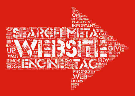 Meta Tags Can Make The Difference Word Cloud Concept Text Background Illustration
